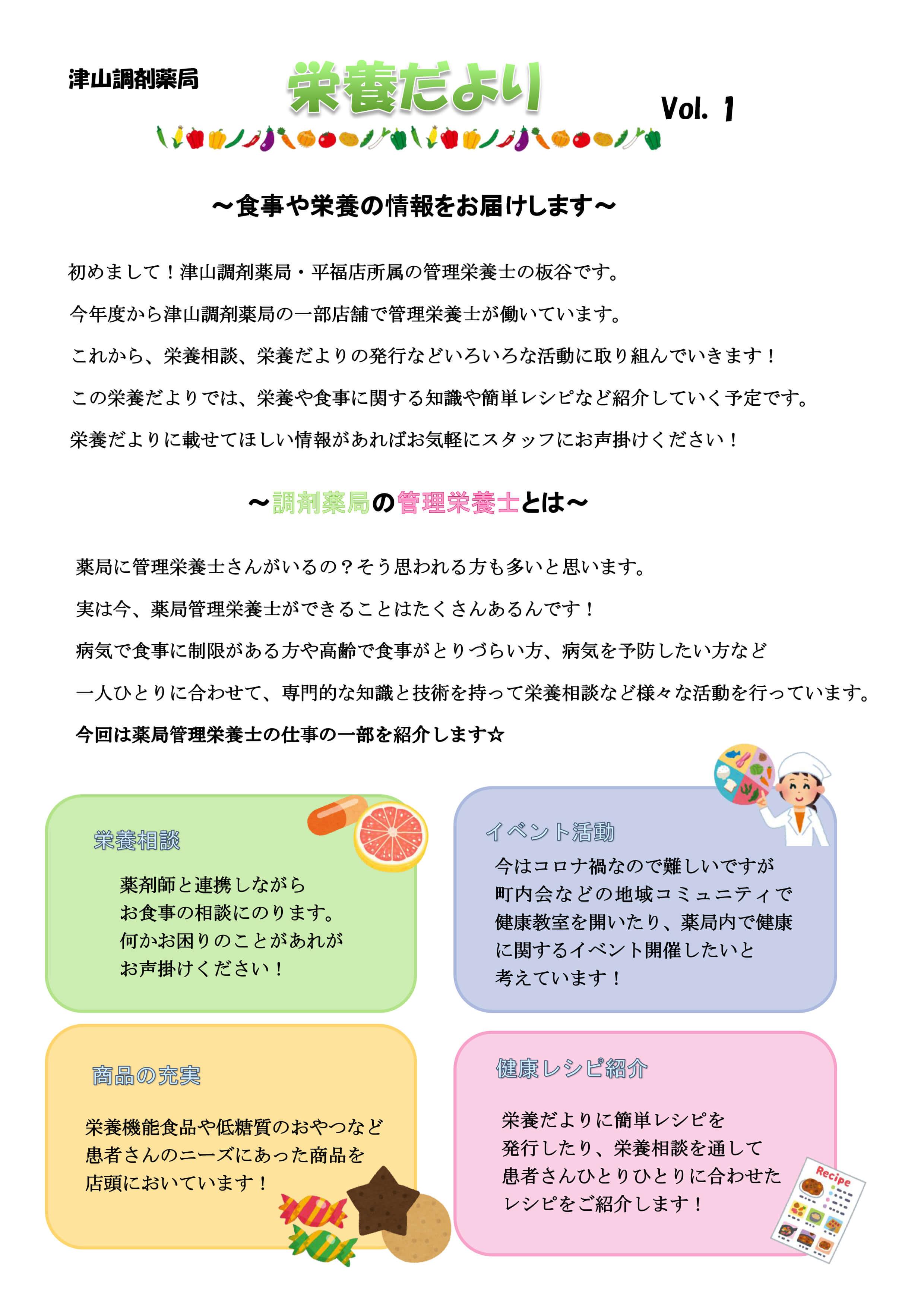 津山調剤薬局栄養士コラム